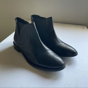 Topshop black leather boots size 37